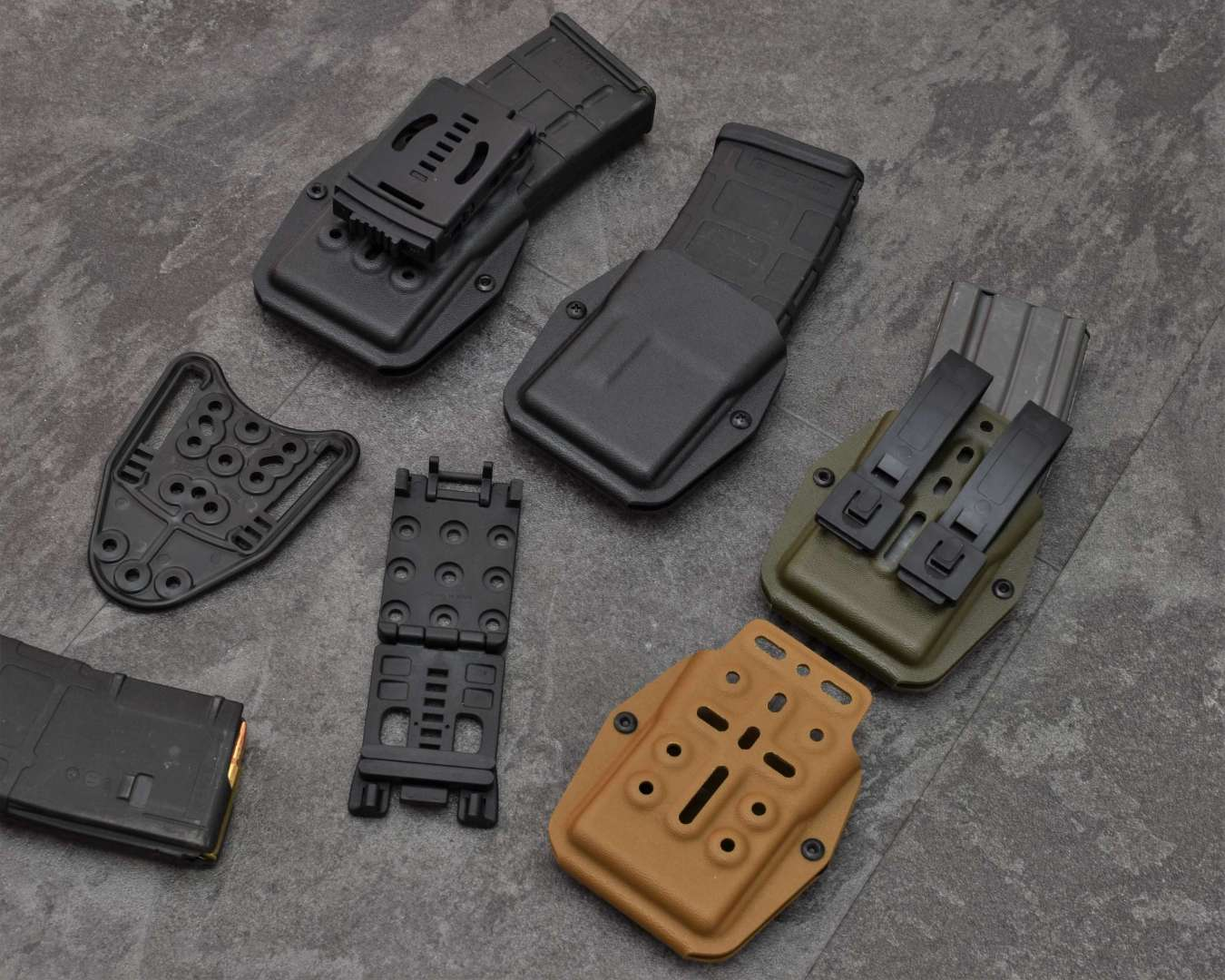 BGs AR15 mag carriers with attachments